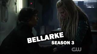 the 100 - all bellarke moments / season 3