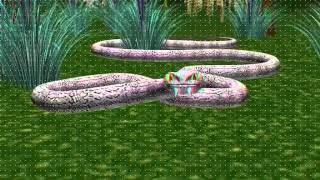 best 3d animated snake Red Cyan)