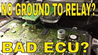 Mercedes ML GL R S class no start no ground from ECU to fuel pump relay