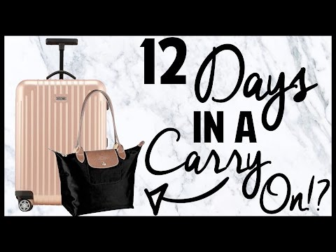 12 Days in Europe in a Carry On Packing Challenge