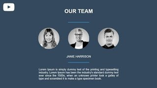 Create The Our team Section By Using HTML & CSS