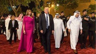 گوشه هایی از سفر پرزیدنت ترامپ به ریاض، عربستان سعودی