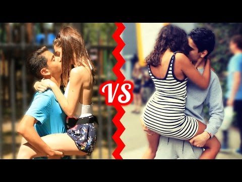 KISSING BATTLE Who Is The BEST Kisser Social Experiment