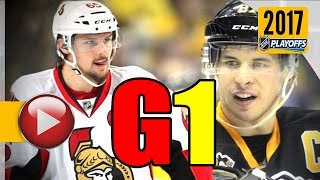 Ottawa Senators vs Pittsburgh Penguins. NHL 2017 Playoffs. Eastern Conference Final. Game 1. (HD)