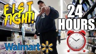 24 HOUR CHALLENGE IN WALMART (GONE WRONG!)