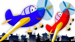 Wheels On The Plane | Nursery Rhymes | Baby Rhymes | Aeroplane Song