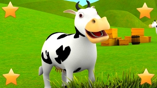 The Farmer in the Dell | 3D Kids Nursery Rhymes Songs Compilation | Baby Song by Little Treehouse