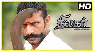 Thilagar Movie Scenes | Theatre sealed | Kishore's farm destroyed | Poo Ram insulted by Kishore
