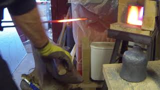 Blacksmithing a small bell