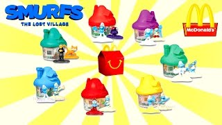 2017 McDONALD'S SMURFS HAPPY MEAL TOYS EUROPE ASIA USA WORLD COLLECTION SET 7 THE LOST VILLAGE MOVIE
