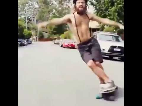Longboarder has serious dance skills