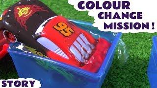 Disney Cars Toys Colour Change McQueen helps Batman catch Joker - Fun Family Friendly Story TT4U