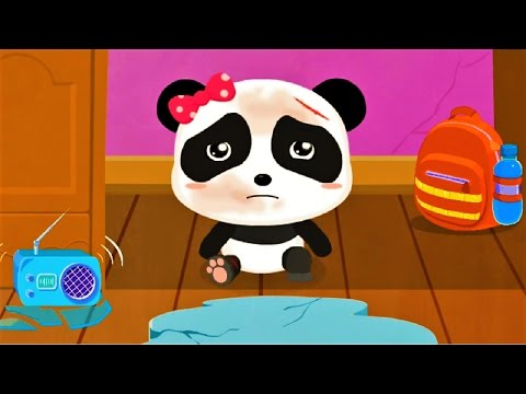 Earthquake Safety Tips Children Learn How To Be Safe Baby panda Game