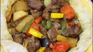 ورقة اللحمة المصرية بشرائح لحم الضاني / الخروف Lamb Chops Grilled in Oven