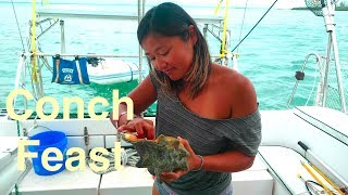 Conch Feast in Spanish Wells, Bahamas (Sailing SV Catsaway) - Ep. 35