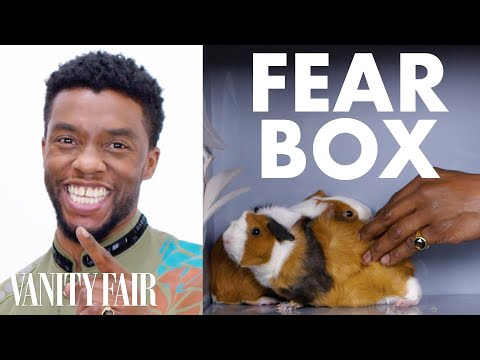Black Panther Cast Touches a Chameleon a Guinea Pig and Other Weird Stuff Fear Box Vanity Fair