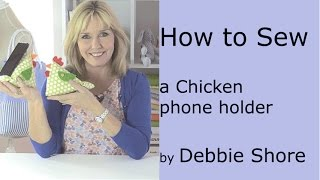 A cute chicken phone holder for you to sew!