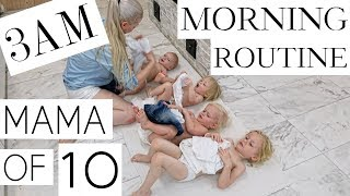 MY MORNING ROUTINE with 10 CHILDREN ( PART 2/3 )