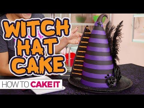 Chocolate Ganache WITCH HAT CAKE!! | How To Cake It