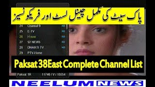 Paksat 38East Full Channel List with Frequency