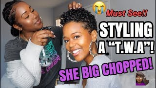 STYLING A T.W.A!!! SHE BIG CHOPPED!!!  | MUST WATCH!!!!!