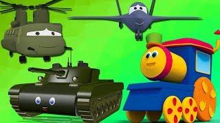 bob il treno  Impara veicoli militari Esercito Camp  Bob The Train  Visit To Army Camp Army Vehicles