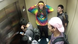 TRIPPING BALLS IN THE ELEVATOR PRANK!!