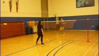 Gien Vs. Coach Blumental - Badminton round