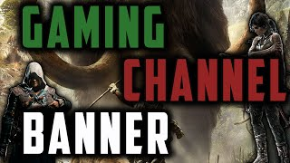 How to make a gaming banner ( free download )