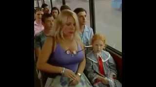 Naughty blonde in bus