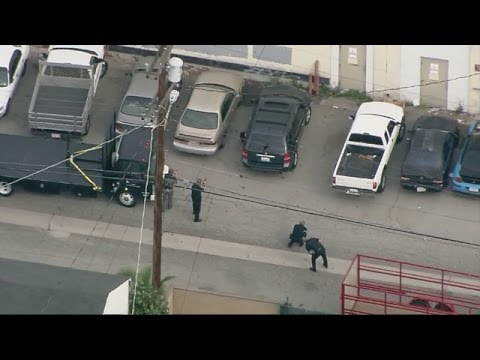 Suspect in LA police pursuit runs hides under car