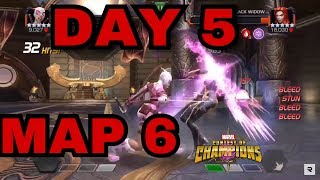 Alliance Quest MAP 6 DAY 5 GAMEPLAY | Marvel Contest Of Champions