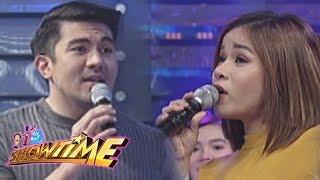 It's Showtime Cash-Ya: Luis and Klarisse in a singing showdown