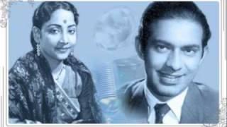 Geeta Dutt, Talat Mahmood  : Thandi hawaon mein : Film - Bahu (1955)