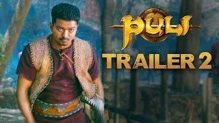 Puli - Official Trailer 2   Vijay, Sridevi, Sudeep, Shruti Haasan, Hansika Motwani