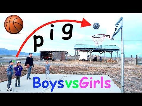 HORSE Basketball Challenge BOYS vs GIRLS!