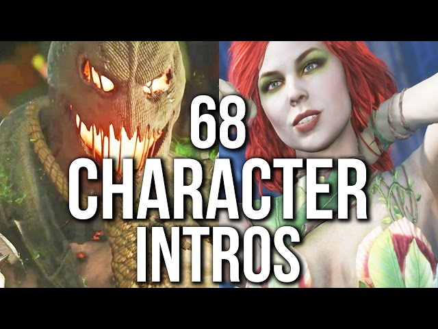 Injustice 2 - 68 CHARACTER INTROS / INTERACTIONS