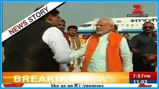 PM Modi reaches Gazipur to do rally
