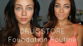 DRUGSTORE Foundation Routine!