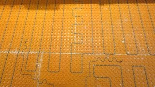 Ditra Heat, electric floor heat  how to install it start to finish