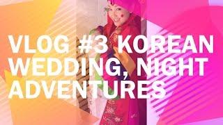 Vlog #3 Korean wedding, night adventures