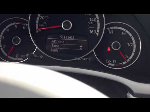 How to change the Beetle odometer from MPH to KPH