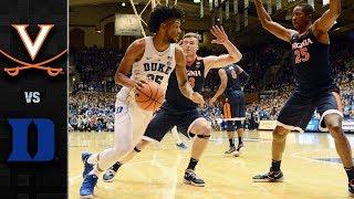 Virginia vs. Duke Basketball Highlights (2017-18)