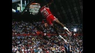 Michael Jordan Leaning WIndmill Slam Dunk 1987