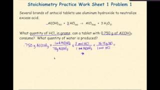 AP Chemistry Stoichiometry Worksheet 1 Problem 1