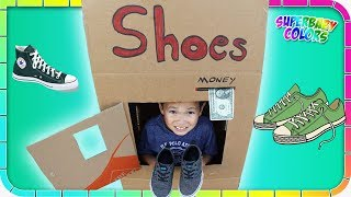 Kids Pretend Play SHOES Vending Machine Fun!!!