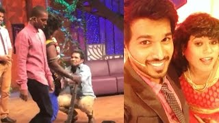 Vijay TV Kalakka Povathu Yaaru Shooting Spot Fun | Rakshan | Sarath |  Kuraishi | Palani
