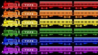 Locomotive Colors - Color Train - Railway Vehicles - The Kids