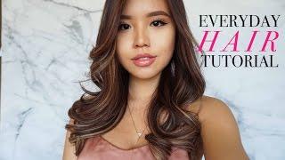 Everyday Hair Tutorial | Loose Wavy Curls