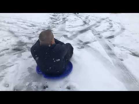 Xxx Mp4 Dori Monson Goes Sledding During Snowmageddon 2019 3gp Sex